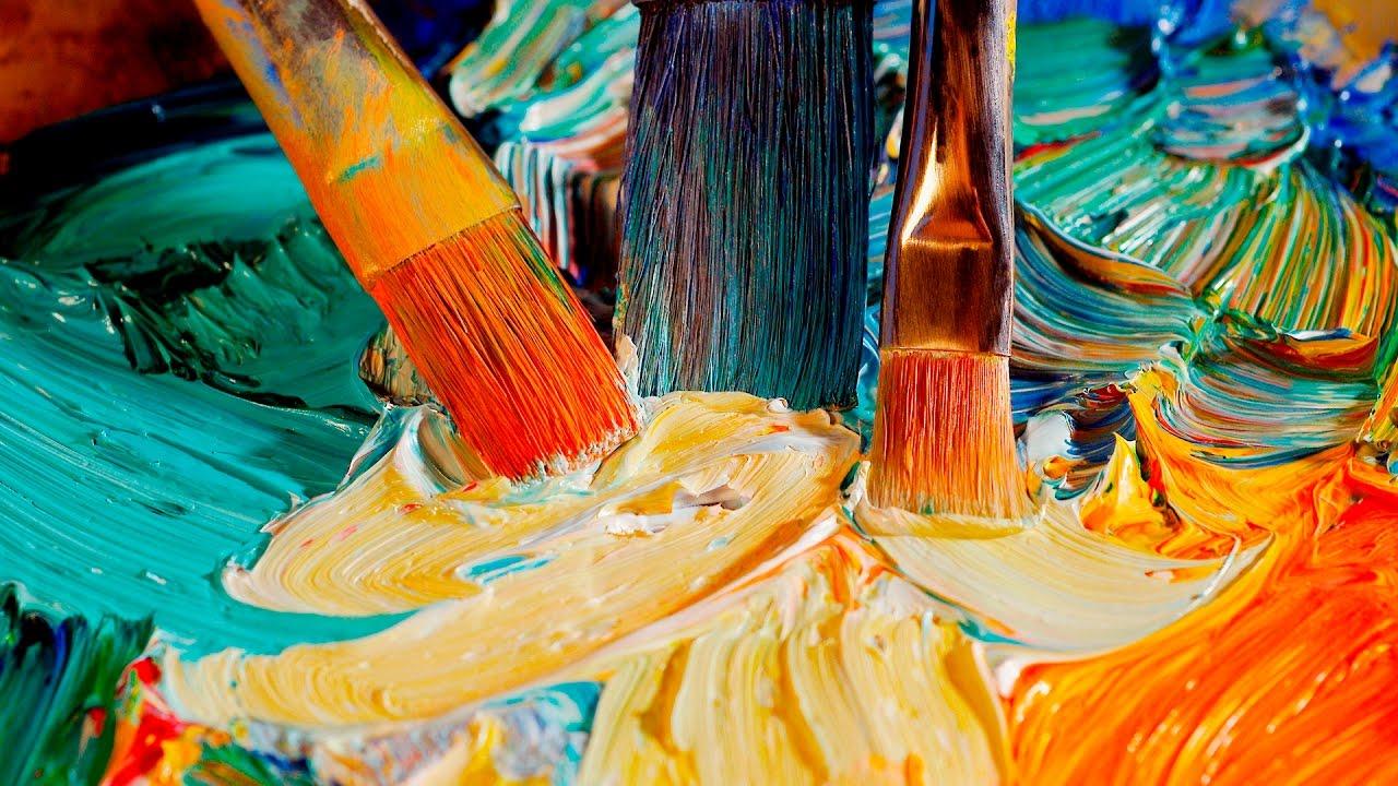 картинки холста и красок современной
