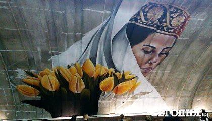 Киевское метро украсили портретом крымской татарки