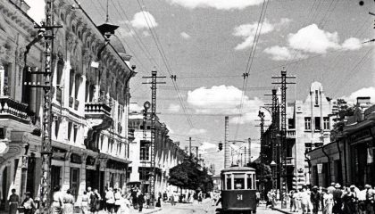 По улицам Акмесджита (Симферополя) ездили трамваи