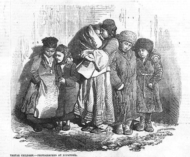 Крымскотатарские дети на гравюре 1855 года в газете The Illustrated London News