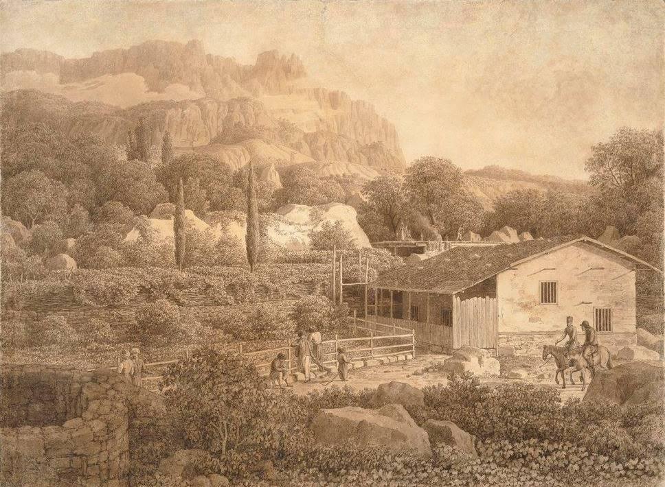 Такой увидел Алупку Карл фон Кюгельген. 1806 год