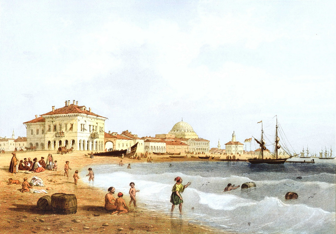 Кезлев на гравюре Карло Боссоли. 1840-1842 гг