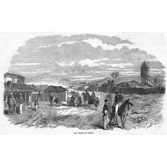 Деревня Байдар. Иллюстрация из британской газеты за 1855 год