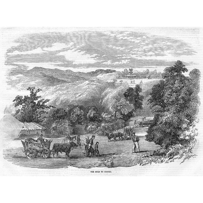 Дорога в Байдар. Иллюстрация из британской газеты за 1855 год