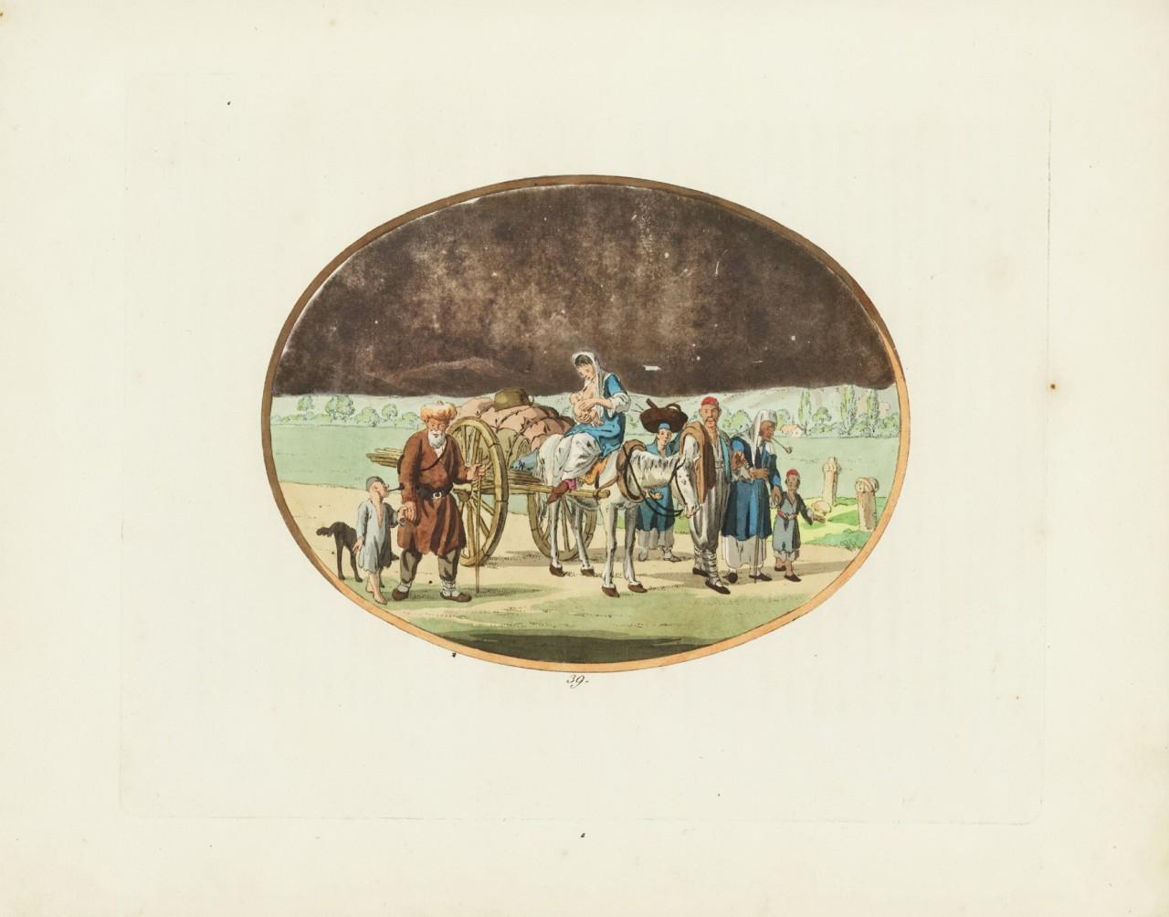 Рисунок немецкого художника Кристиана Гейслера, сделанный в Крыму в 1803 году