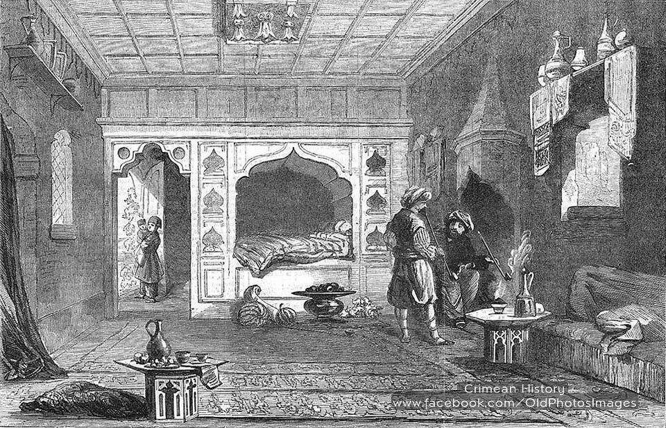 Комната в доме мирзы в Байдарской долине. 1856 год