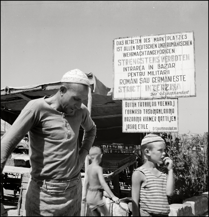 UKRAINE. Crimea. Simferopol.1943. On the Marketsquare. M-UK-SIM-001