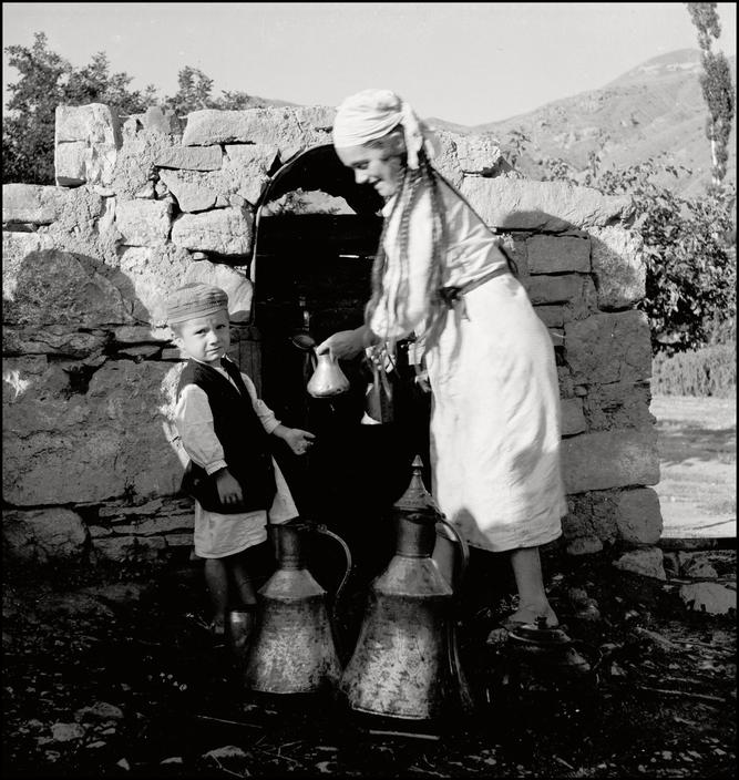 UKRAINE. Crimea. 1943. Well in a Tartan Village. M-UK-KRI-053