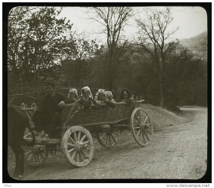Жители села Байдар в повозке. 1900 год