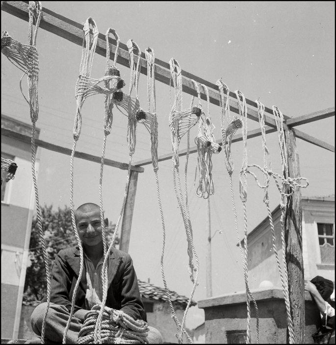 UKRAINE. Crimea. 1943. Young tartar selling rope. M-UK-KRI-034