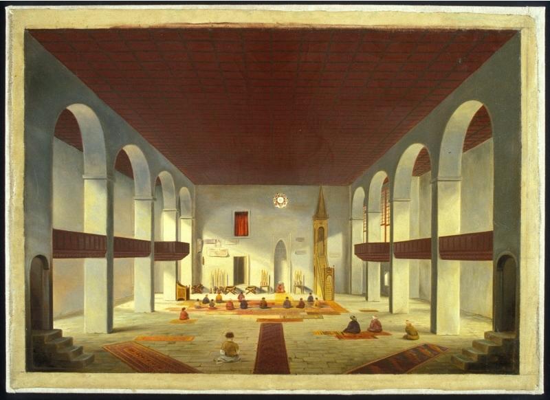 Интерьер мечети в Ханском дворце, 1846 год