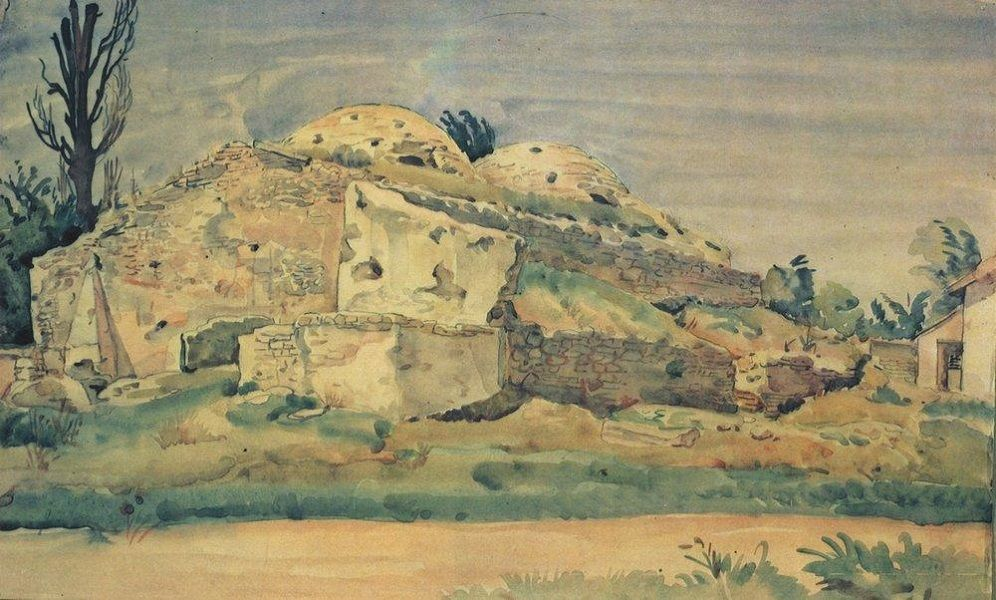 К. Богаевский. Старые бани в Карасубазаре. 1935 год