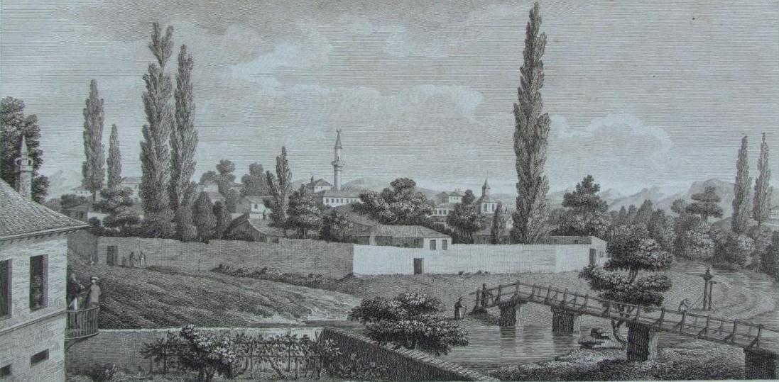 А. де Палдо. Вид Карасубазара из дома Салих аги 1805 год