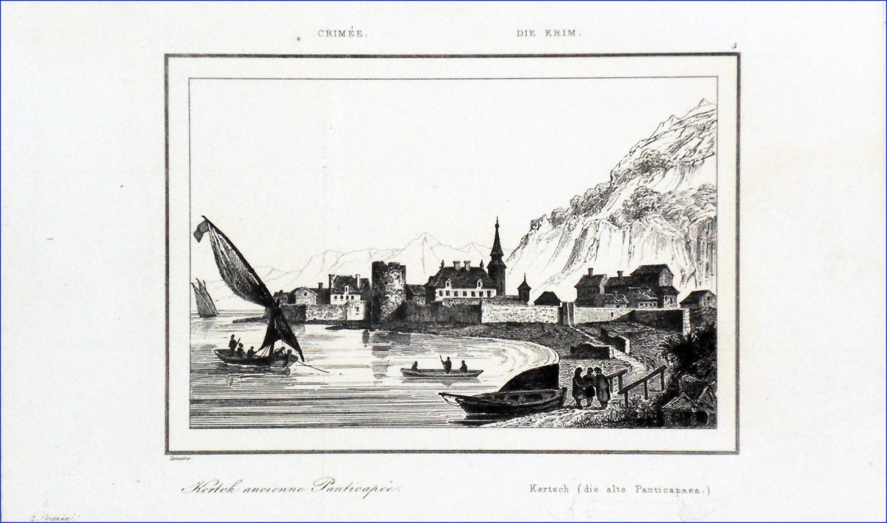 crimee-le-port-de-kertch-ancienne-panricapee-au-19e-siecle-gravure-19