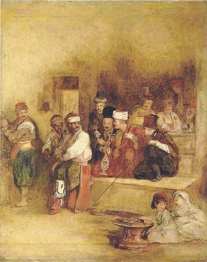 uilki-devid-1785-1841-gg-tatary-slushayut-vestnika-masl-holst-70h50