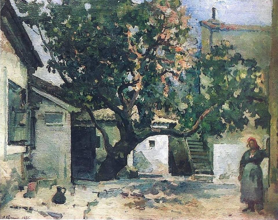 a-v-kuprin-1880-1960-feodosiya-tatarskij-dvorik-1930g