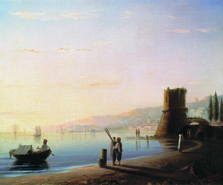 naberezhnaya-feodosii-ivan-ajvazovskij-1840-god