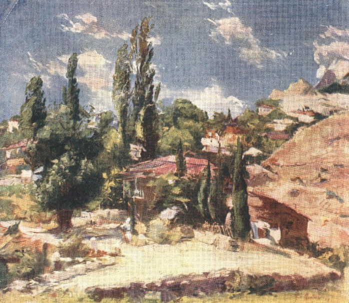 Симеиз. Картина Бориса Яковлева. 1928 год