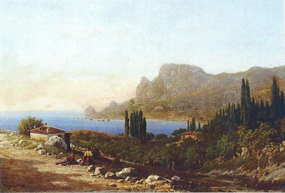 Симеиз. Картина Петра Верещагина, 1880-е годы