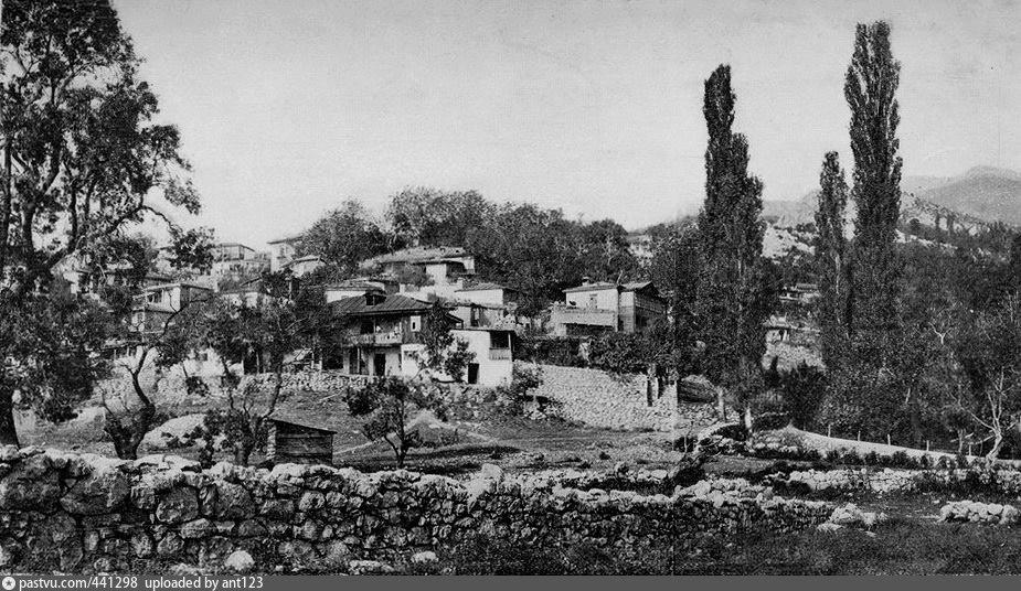 Вид деревни Симеиз и Симеизской долины. 1913 год