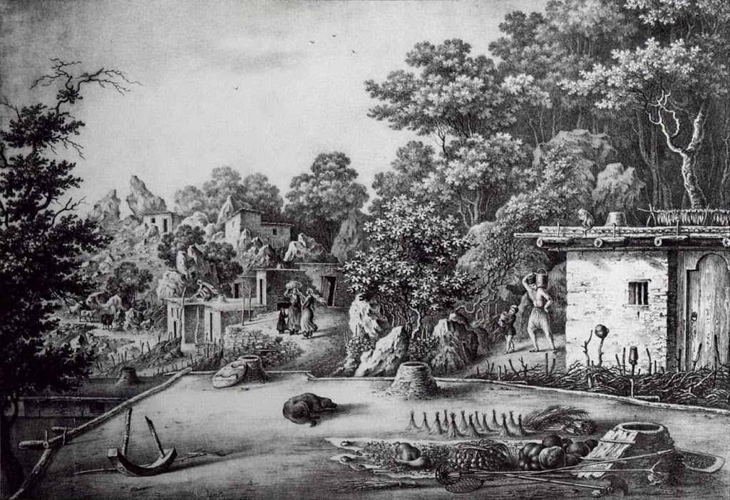 Симеиз. Рисунок Федора Гросса, 1840-е годы