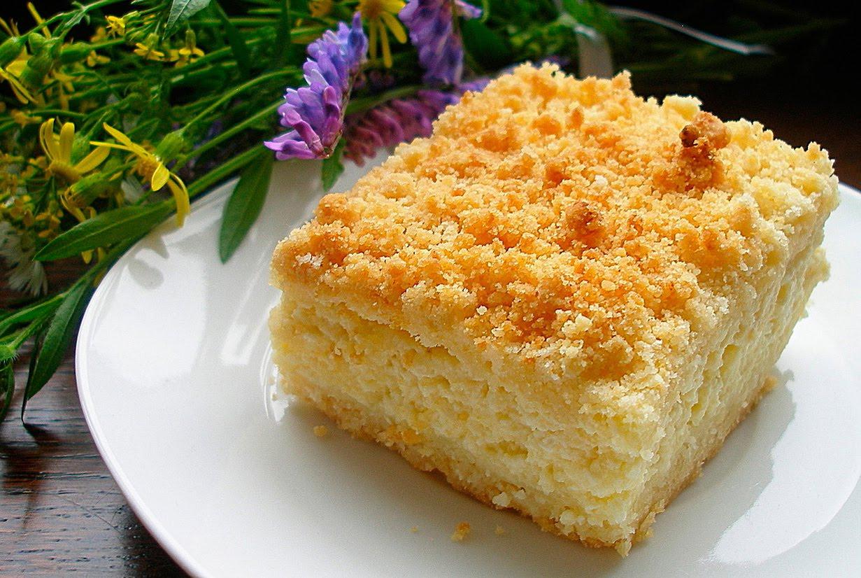 Творожный пирог с крошкой рецепт с фото пошагово